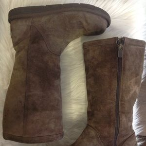 Ugg Uggs Suede Side Zip Tall Boots Size 7